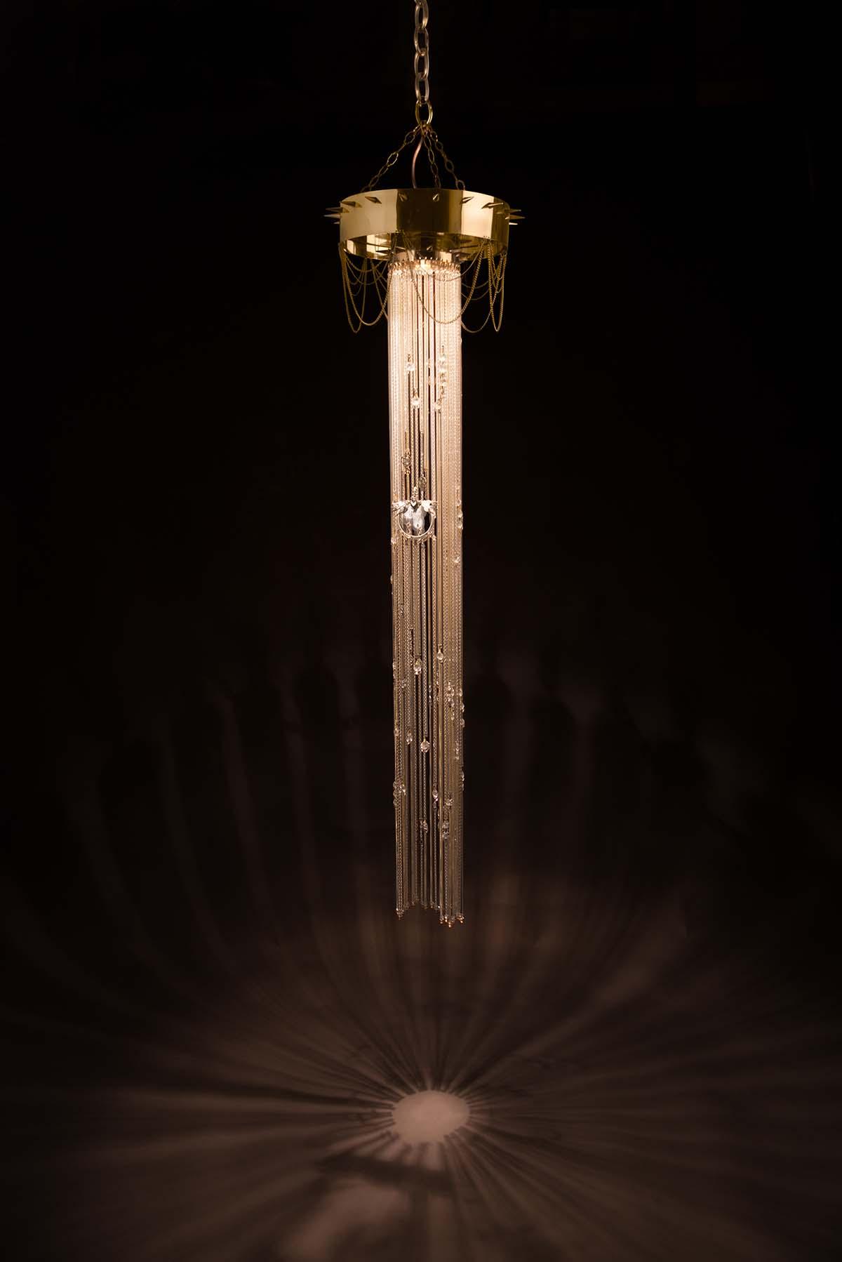 Celeste chandelier by Emerald Faerie. atmospheric lighting.