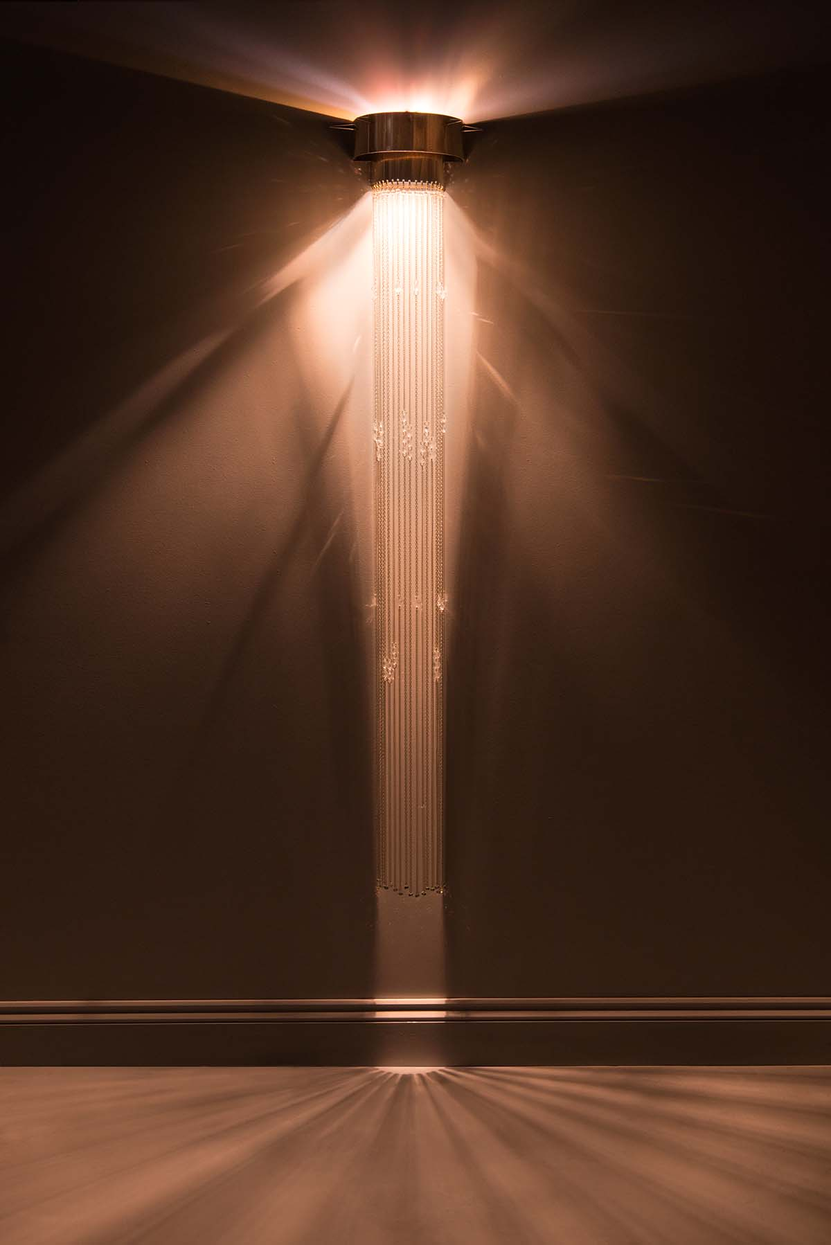 Celeste wall light by Emerald Faerie. atmospheric lighting.