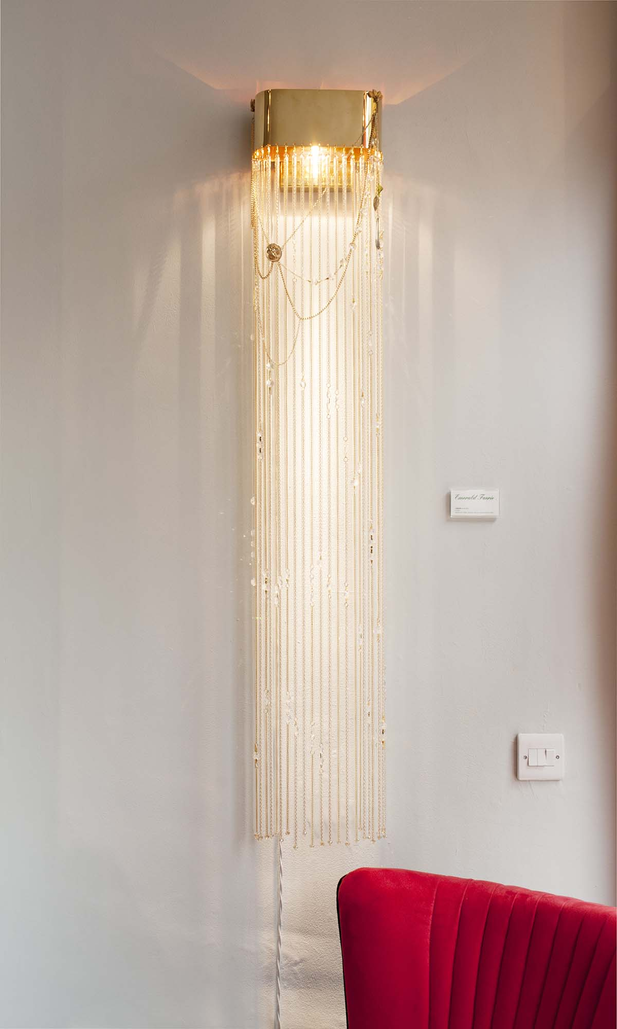 Celeste wall light by Emerald Faerie. At the Gathering goddess vintage boutique.