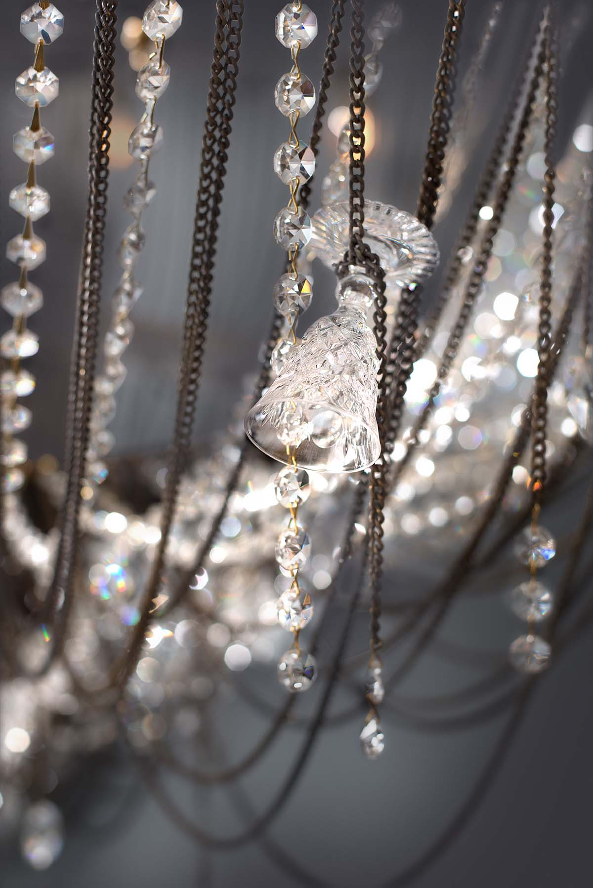 Detail of Ambrosia large oval chandelier