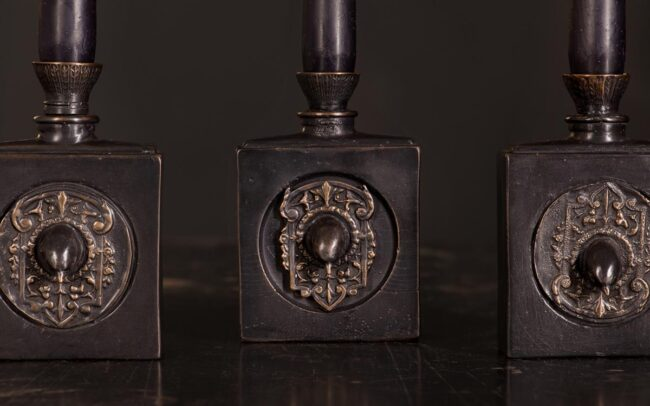 Detail of The Swift candleholder made from solid bronze