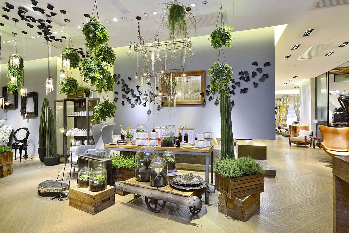 Emerald Faerie exhibition at the Lane Crawford luxury store in Hong Kong